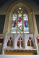 Church of St Mary Matching Essex England - chancel reredos and east window.jpg