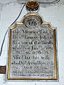 Church of the Holy Cross Great Ponton Lincolnshire England - George & Elizabeth Jolland north aisle plaque.jpg