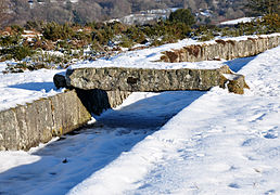 Clapper on Plymouth Leat in snow.jpg