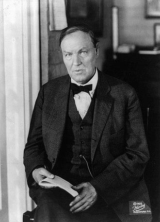 Clarence Darrow - Clarence Seward Darrow, c. 1922
