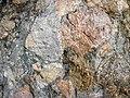Clast-rich mixtite (Coleman Member, Gowganda Formation, Paleoproterozoic, ~2.3 Ga; Percival Lake roadcut, Ontario, Canada) 25 (32783990477).jpg
