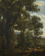 Landscape with a Goatherd and Goats