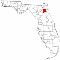 佛罗里达州克莱县地图