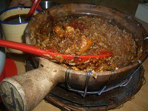 Claypot chicken rice - Image: Claypot rice xx