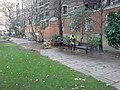 Cleaning a Bench, St John's Gardens - geograph.org.uk - 636767.jpg