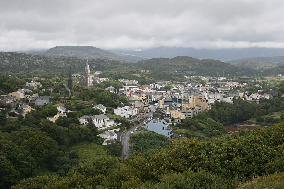 View from John D'Arcy Monument on the Sky Road