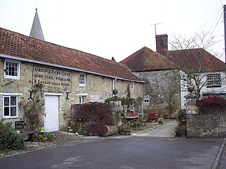 Hindon, Wiltshire - Stabling at the Grosvenor Arms (now the Angel Inn), an old coaching inn in Hindon