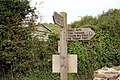 Coastpath sign at Hawkers Cove - geograph.org.uk - 1466416.jpg