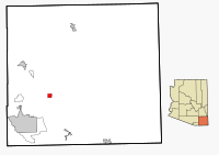 Cochise County Incorporated and Unincorporated areas Tombstone highlighted.svg