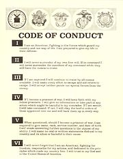 Code of Conduct (United States Military)