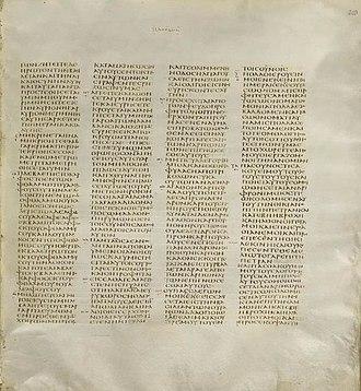 Matthew 6 - Image: Codex Sinaiticus Matthew 6,32 7,27