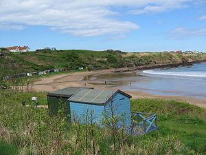 Coldingham - Image: Coldingham Beachhuts 1