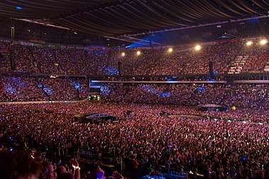 "Johan Cruyff Arena, the largest Dutch concert venue Coldplay perform ""Up&Up"", Amsterdam Arena, June 2016 (5).jpg"