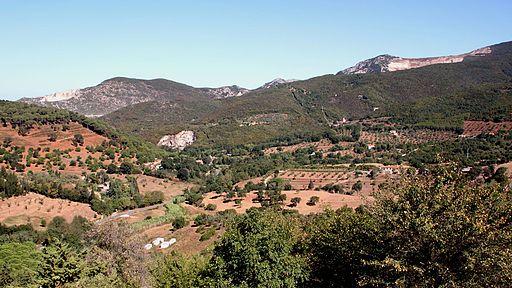 Vista da la Rocca di Campiglia Marittima a le Colline Metallifere