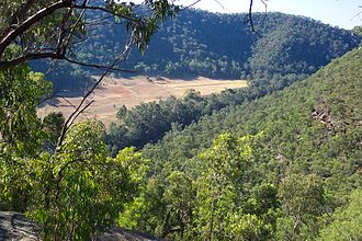 Wild river - View down Colo River Valley, New South Wales, being river recently protected as a Wild River under New South Wales' National Parks and Wildlife Act 1974