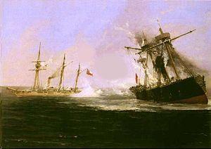 Battle of Punta Gruesa - Image: Combate naval de Punta Gruesa