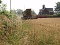 Combining Wheat, Aston Heath Farm, Aston Lane - geograph.org.uk - 211548.jpg