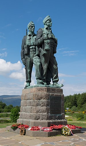 Commando Memorial - The memorial in June 2016