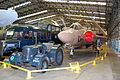 Commer RAF crew bus, David Brown tractor, and H.S. Buccaneer S.2, Yorkshire Air Museum, Elvington. (6929464425).jpg