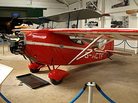 Il Comper Swift G-ACTF esposto presso la Shuttleworth Collection, Old Warden, Inghilterra.