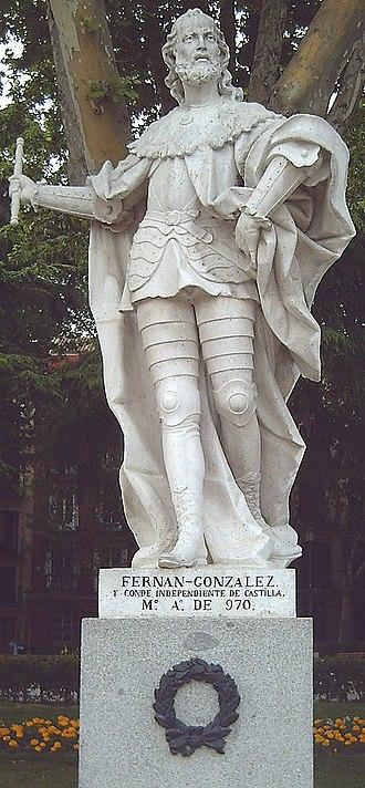 Fernán González of Castile - Statue in Madrid (J. Villanueva, 1750-53).