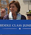 Congresswoman Pelosi discusses the Middle Class Jumpstart at Central Subway construction (14909186892) (cropped).jpg