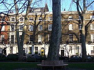 Connaught Square - Looking eastwards across the private garden