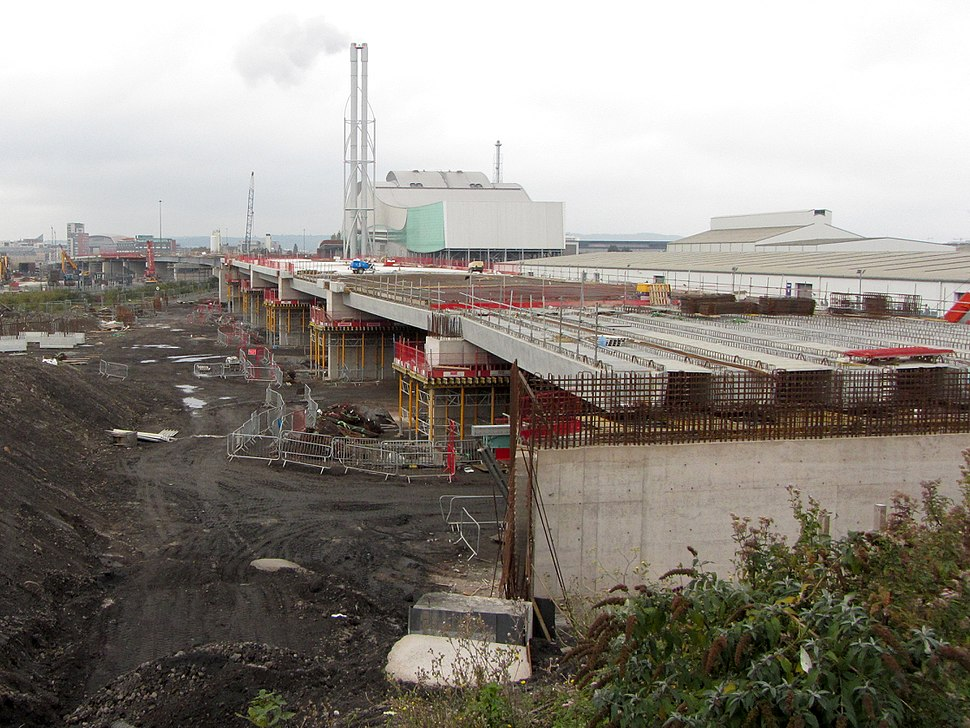 Construction of the Eastern Bay Link Road-Geograph-5174081-by-Gareth-James