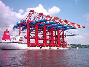 Zhenhua - Heavy lift vessel Zhen Hua 20 transports five ship-to-shore gantry cranes manufactured by ZPMC