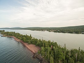 Aerial view of Copper Harbor
