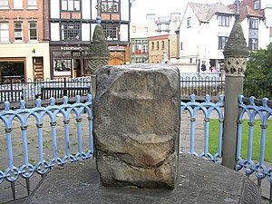 Kingston upon Thames - The Coronation Stone in the grounds of the guildhall