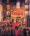 Coronation of Paul I by M.F.Kvadal (1799, Saratov museum).jpg