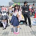 Cosplayer of Mayoi Hachikuji at Comic Market 82 20120821 2.jpg