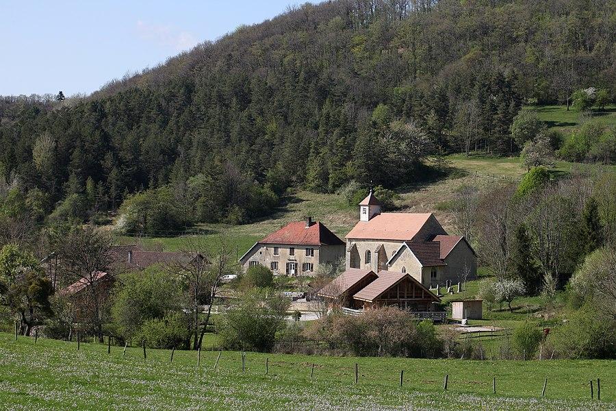 Vue de Coulans-sur-Lison (Doubs).