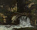 Courbet - Mill at Bridge over the Source of the Loue, circa 1863.jpg
