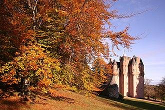 Craigievar Castle - Craigievar Castle in autumn in 2006