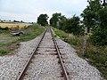 Crakehall railway station, view west to Leyburn, Wensleydale Railway, Yorkshire.jpg