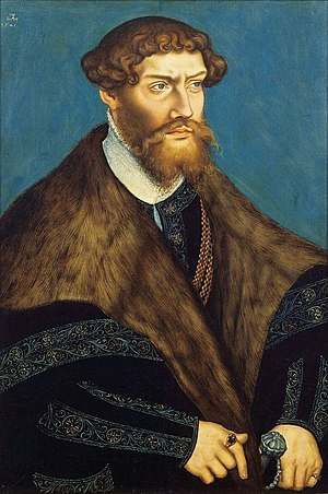 Philip I, Duke of Pomerania - Philip I of Pomerania-Wolgast, by Lucas Cranach the Younger