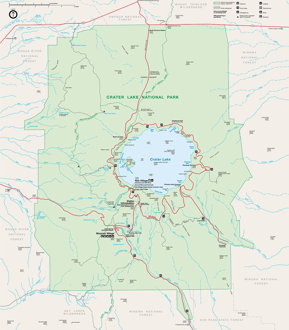 crater lake on a map File Crater Lake National Park Map Jpg Wikimedia Commons crater lake on a map
