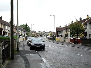 Creggan, Derry - Housing on Creggan Heights.
