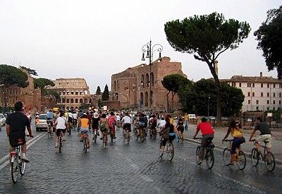 Massa Crítica de Roma, 29 de julho de 2005