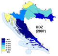 Croatia Election Results 2007 HDZ.png