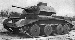 Tanks of the interwar period -  The British A13 Cruiser Mk IV tank.