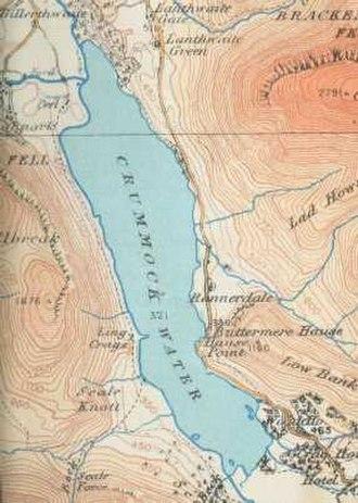 Crummock Water - map (1925)