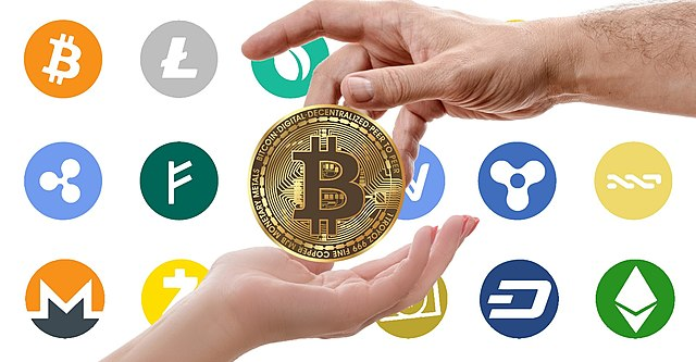 Cryptocurrency logos, From WikimediaPhotos