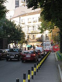 Čubura Urban neighbourhood in Vračar, Belgrade, Serbia