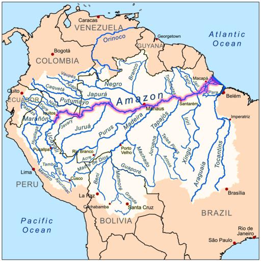 cuenca hidrografica del rio amazonas