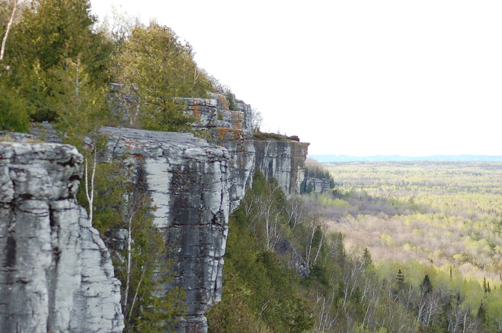view from the cup and saucer trail on Manitoulin island, northern Ontario
