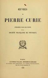 Pierre Curie: Œuvres de Pierre Curie