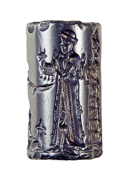 File:Cylinder Seal, Old Babylonian, formerly in the Charterhouse Collection 03.jpg